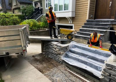 Stair and Retaining Wall Instalation